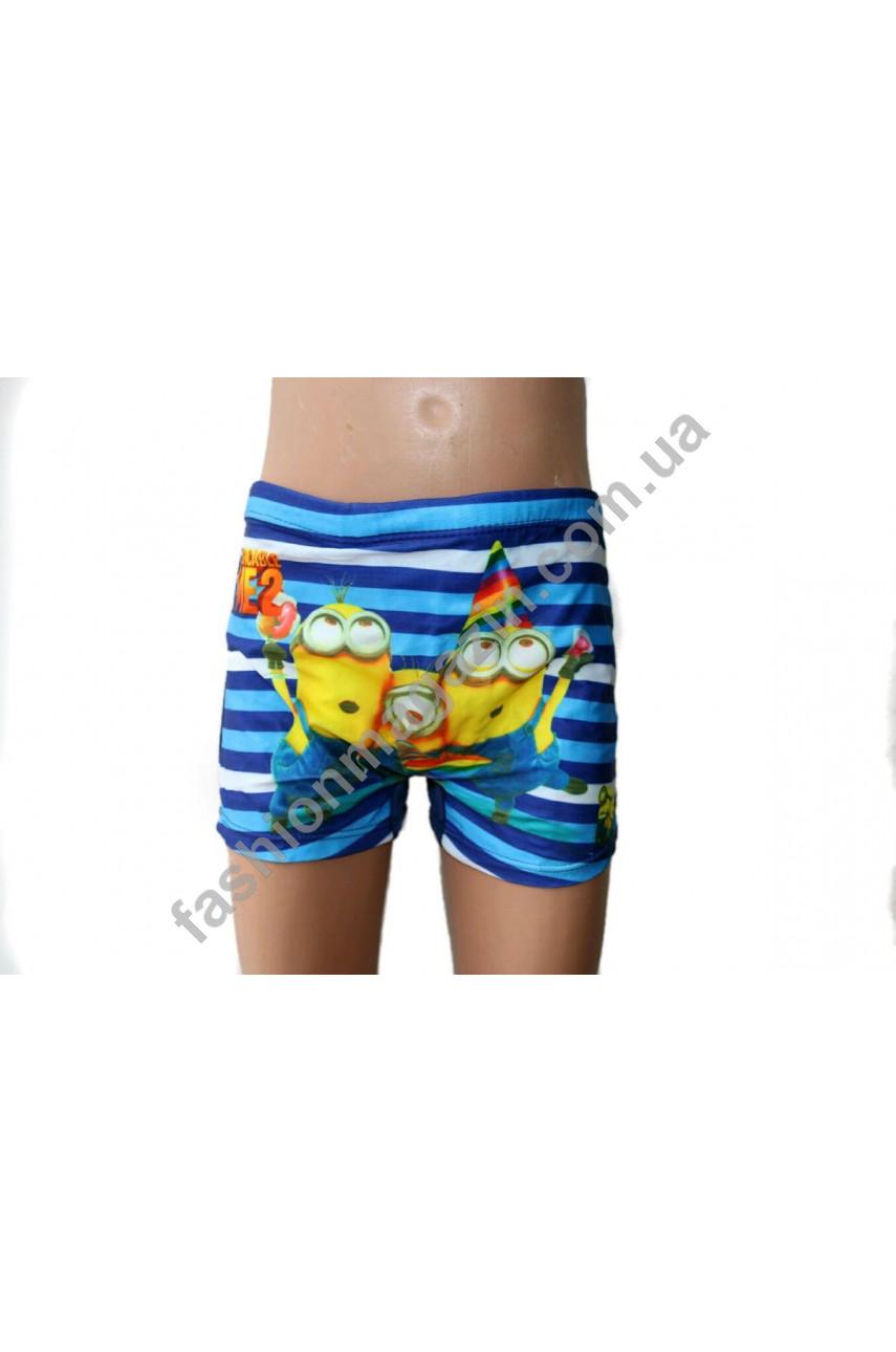 5663 плавки - шорты для мальчиков мультяшные